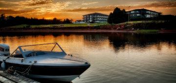 Boats Rodd Sunset Warer
